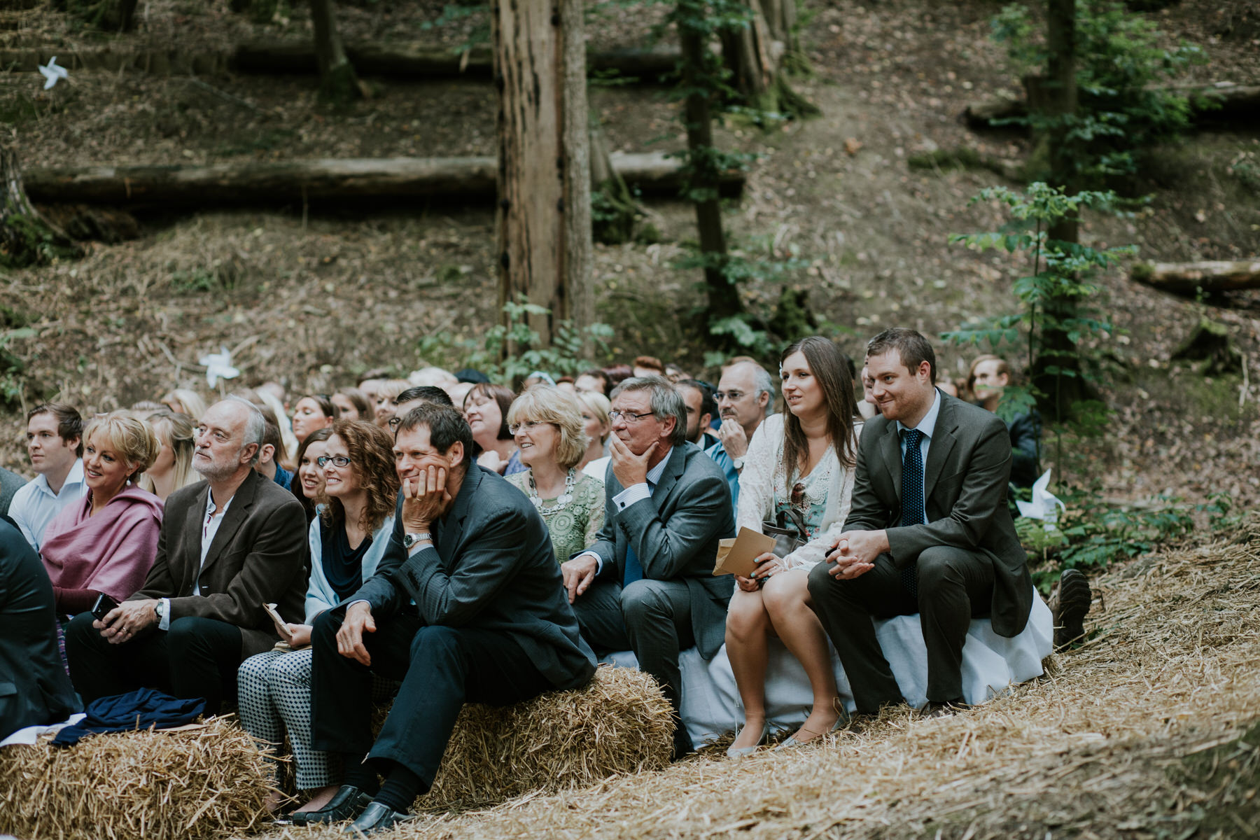 26 guests watching woodland wedding East Sussex.jpg