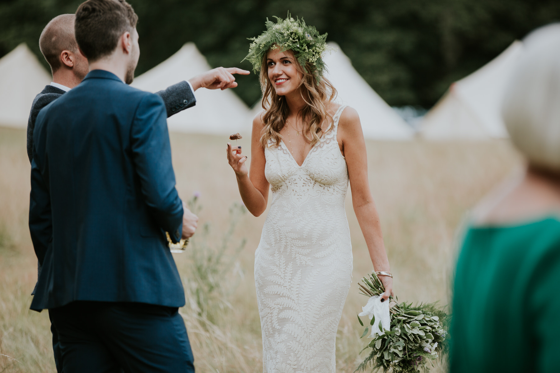 84 Paper Mill Woodland Wedding bride hay field.jpg