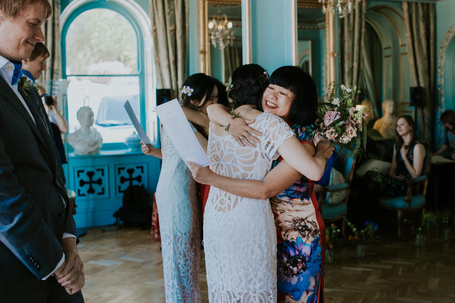 468 intimate emotional moment between bride mum Portmeirion Hotel.jpg