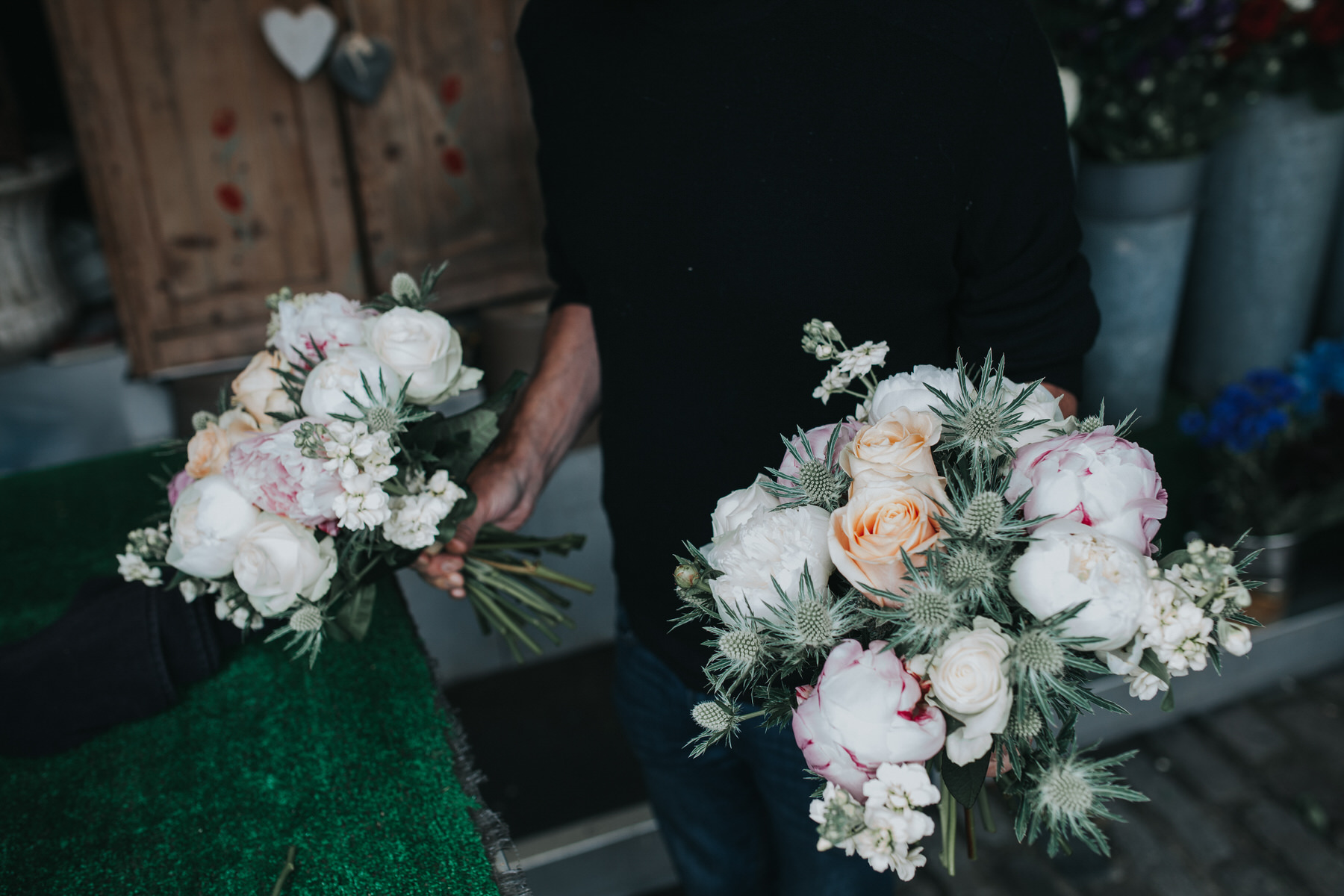11 Islington flower cart thistle peony wedding bouquet.jpg