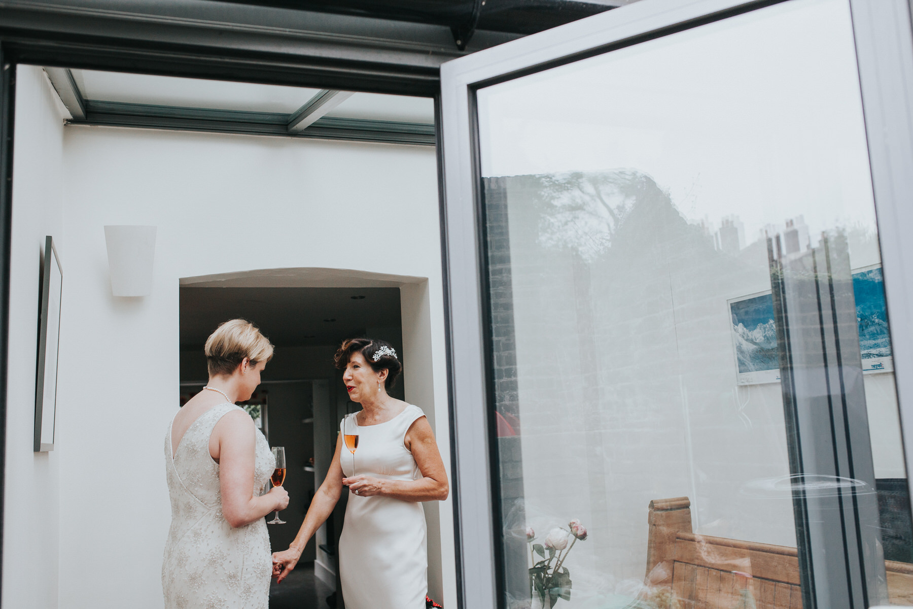 51 two brides before wedding ceremony London reportage photography.jpg