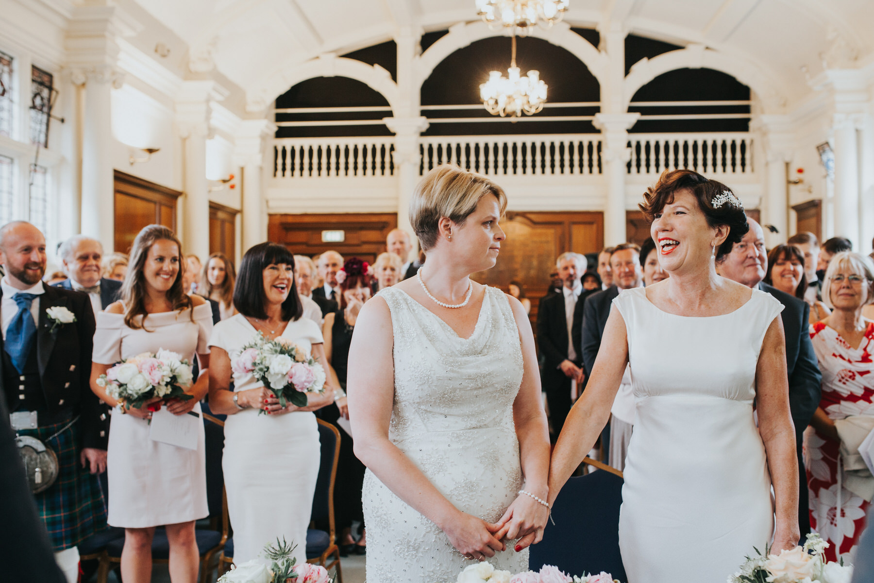 89 Finsbury Town Hall wedding ceremony two brides.jpg
