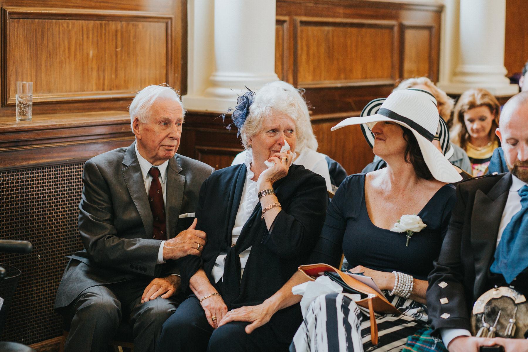 91 emotional brides mum Finsbury Town Hall wedding ceremony.jpg