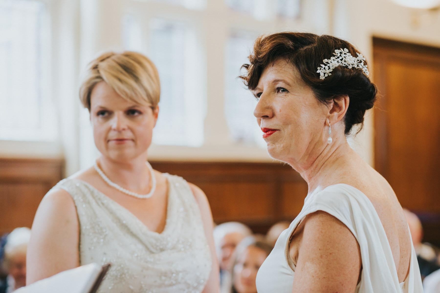 110 Finsbury Town Hall reportage wedding ceremony two brides.jpg