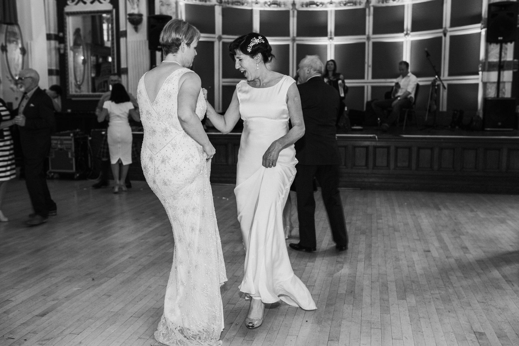 268 two brides first dance Finsbury Town Hall wedding.jpg