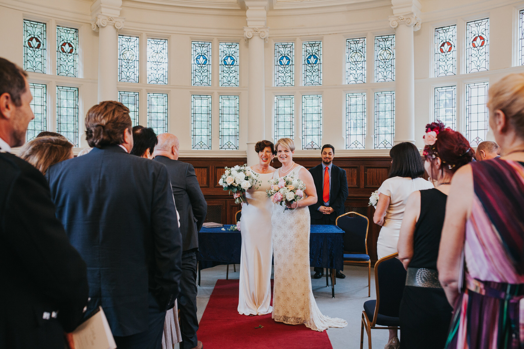 123 two brides just married Old Finsbury Town Hall.jpg