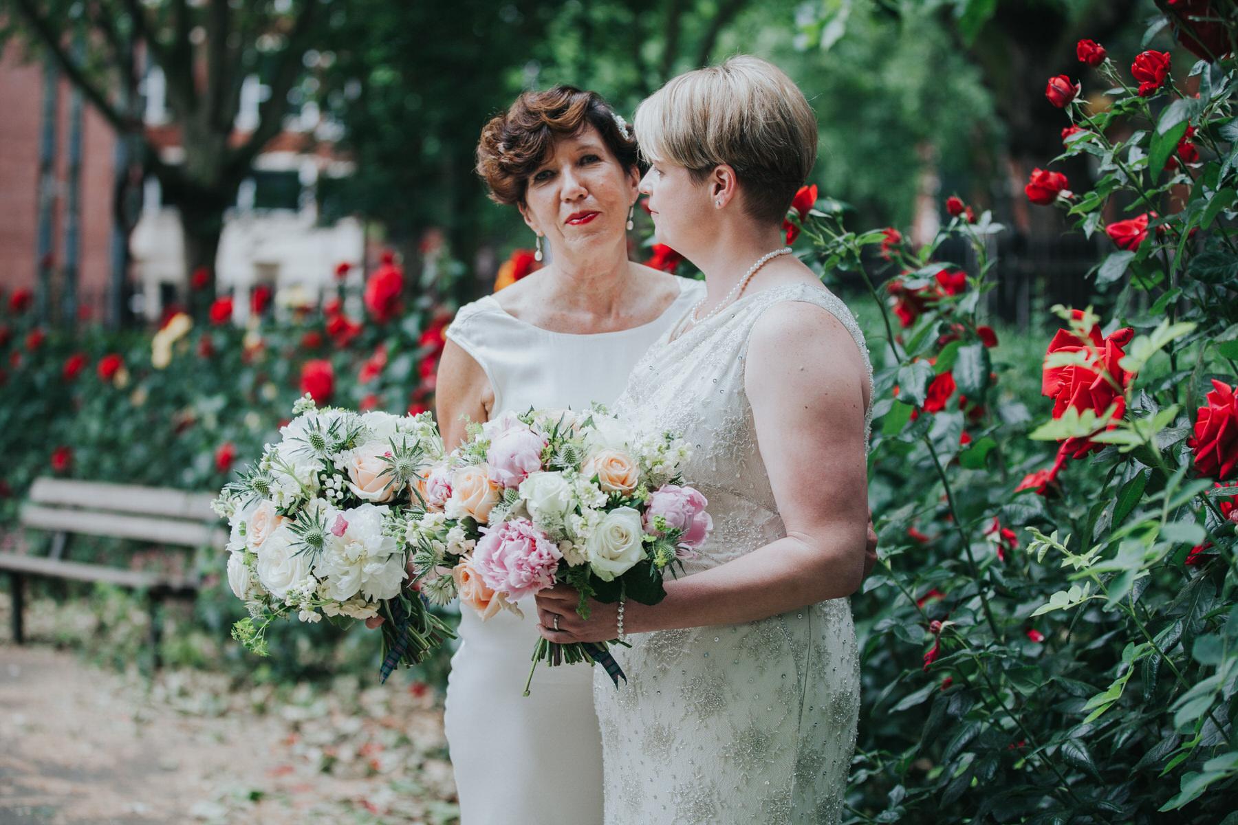 175 London reportage wedding photographer two brides couple portraits.jpg