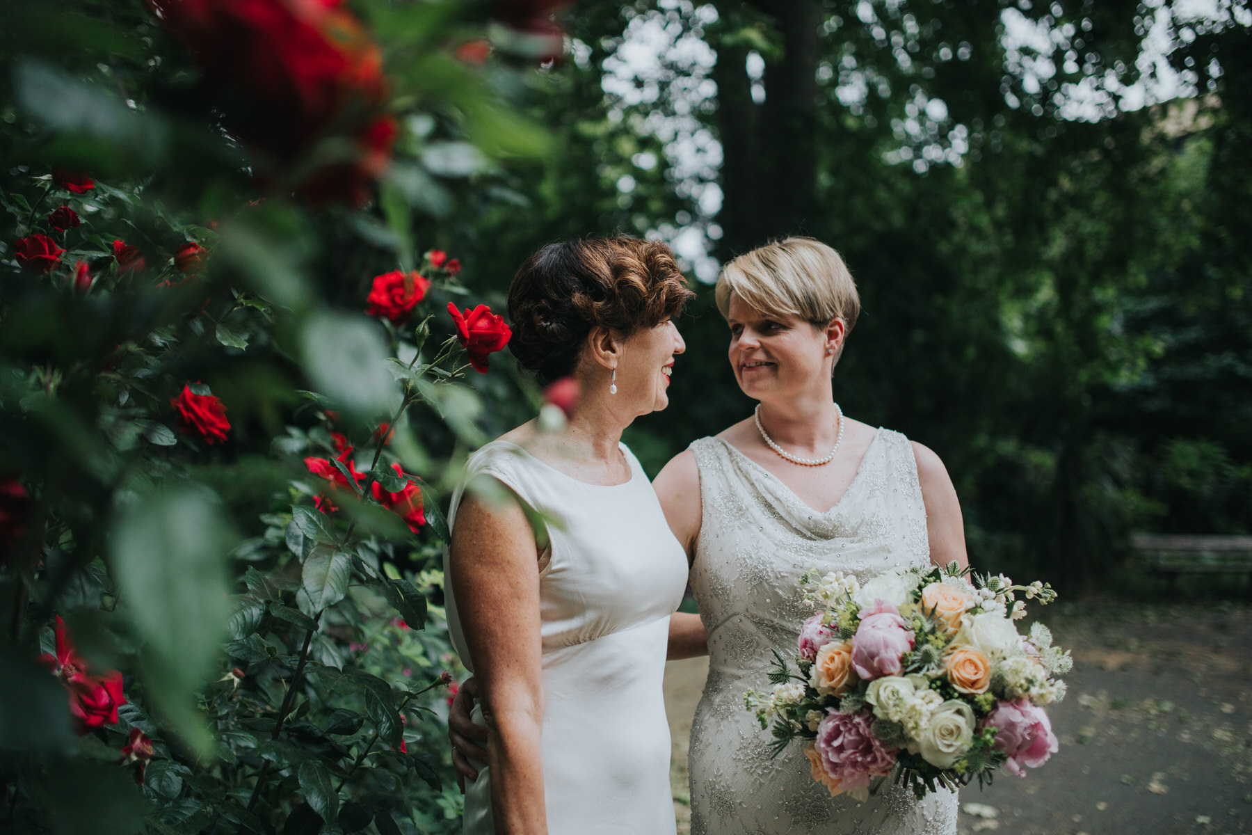 193 relaxed natural two brides wedding portrait Islington park.jpg