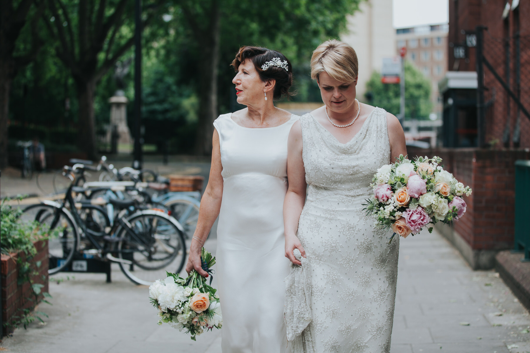 206 two brides newly married couple Islington reportage photographer.jpg
