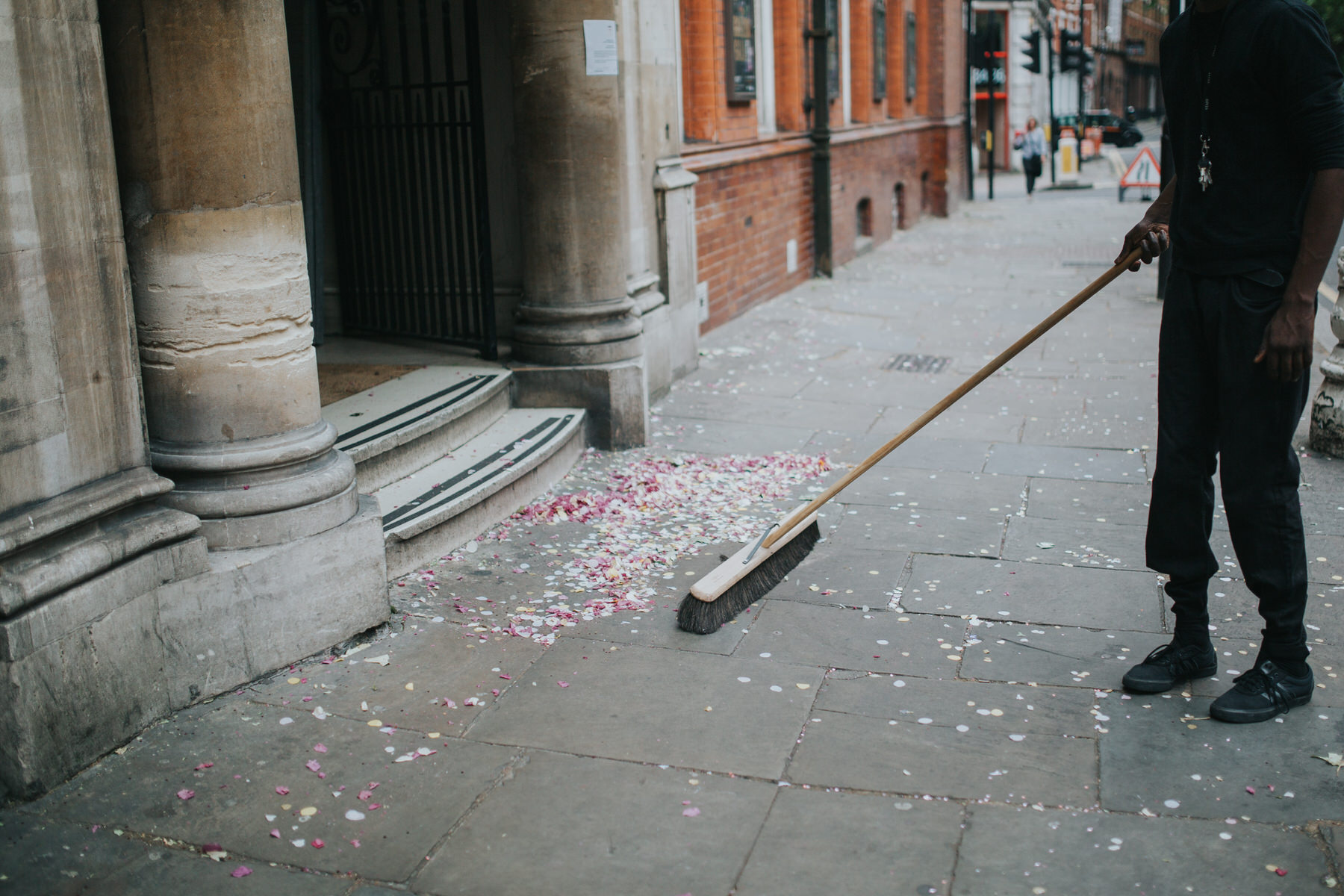 209 piles confetti swept up outside Finsbury Old Town Hall.jpg