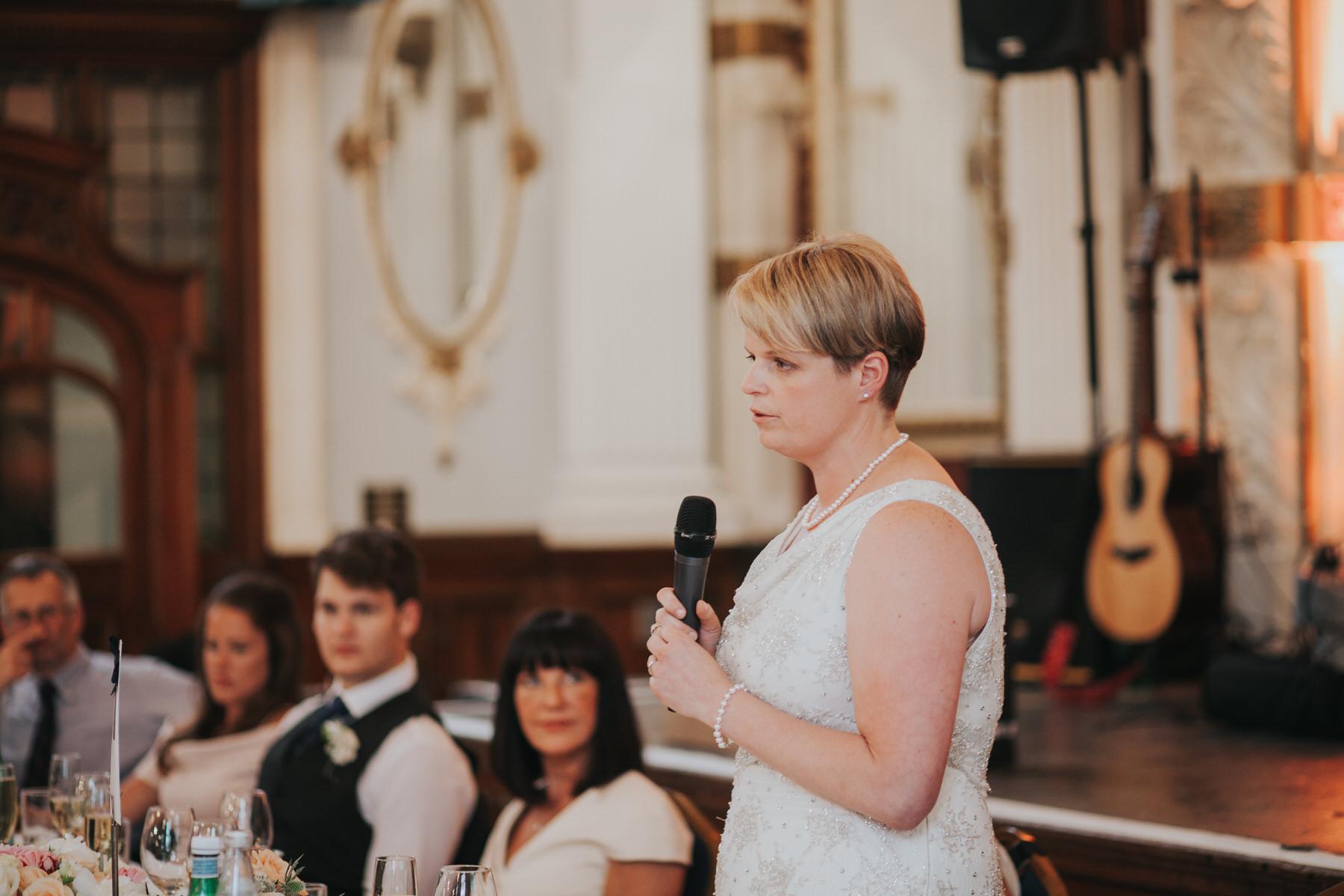 237 Old Finsbury Town Hall brides giving wedding speech.jpg