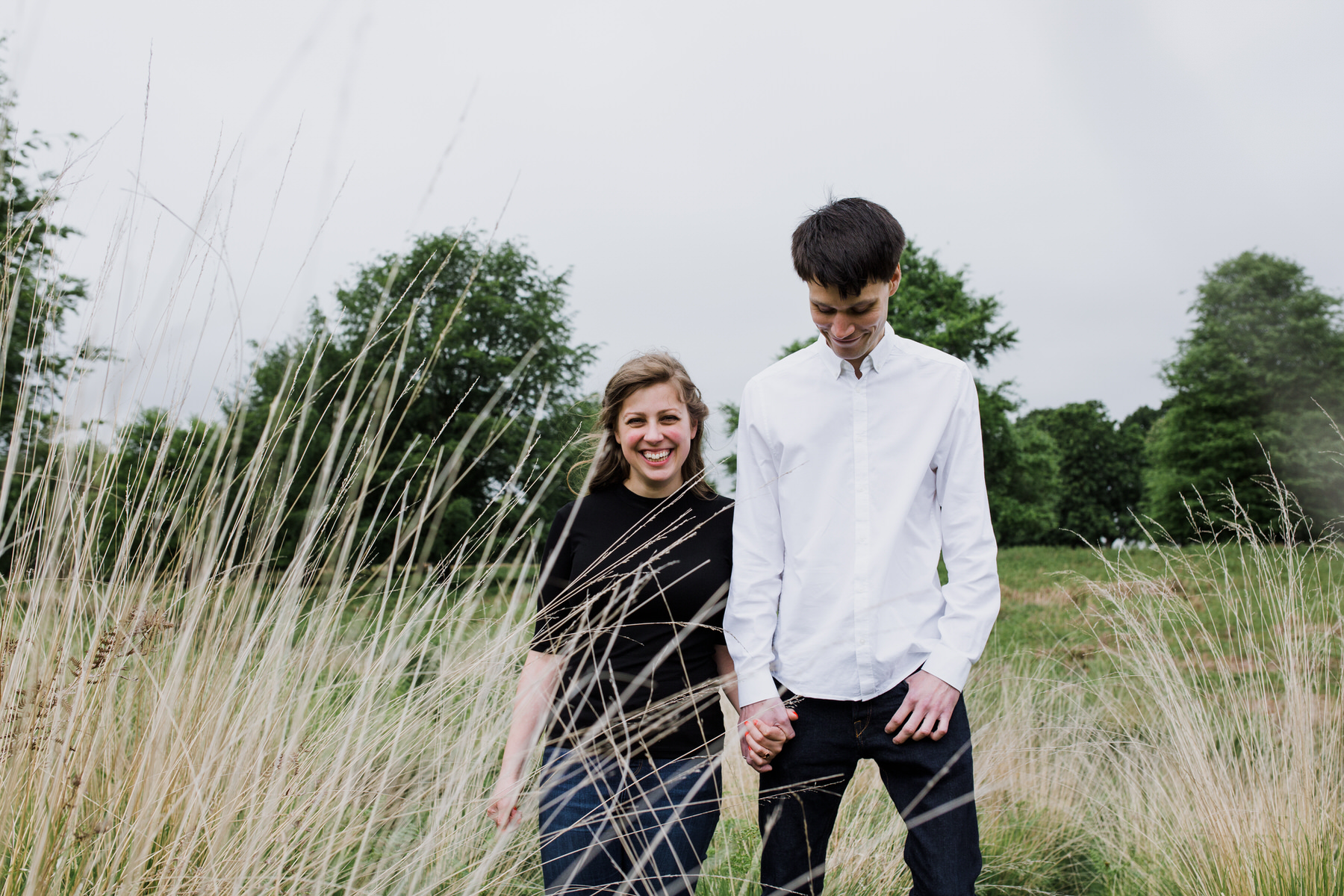 14-Richmond relaxed pre wedding photography tall yellow grasses.jpg