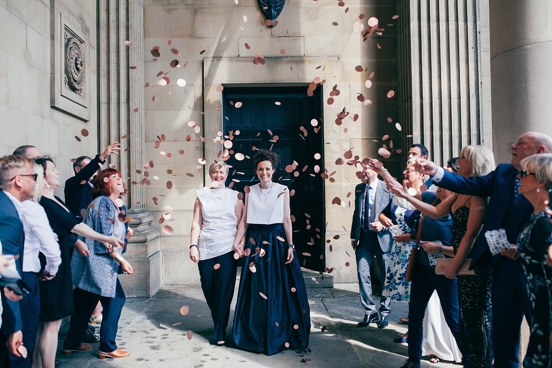 CV-262 Leeds town hall reportage wedding photographer gold confetti.jpg