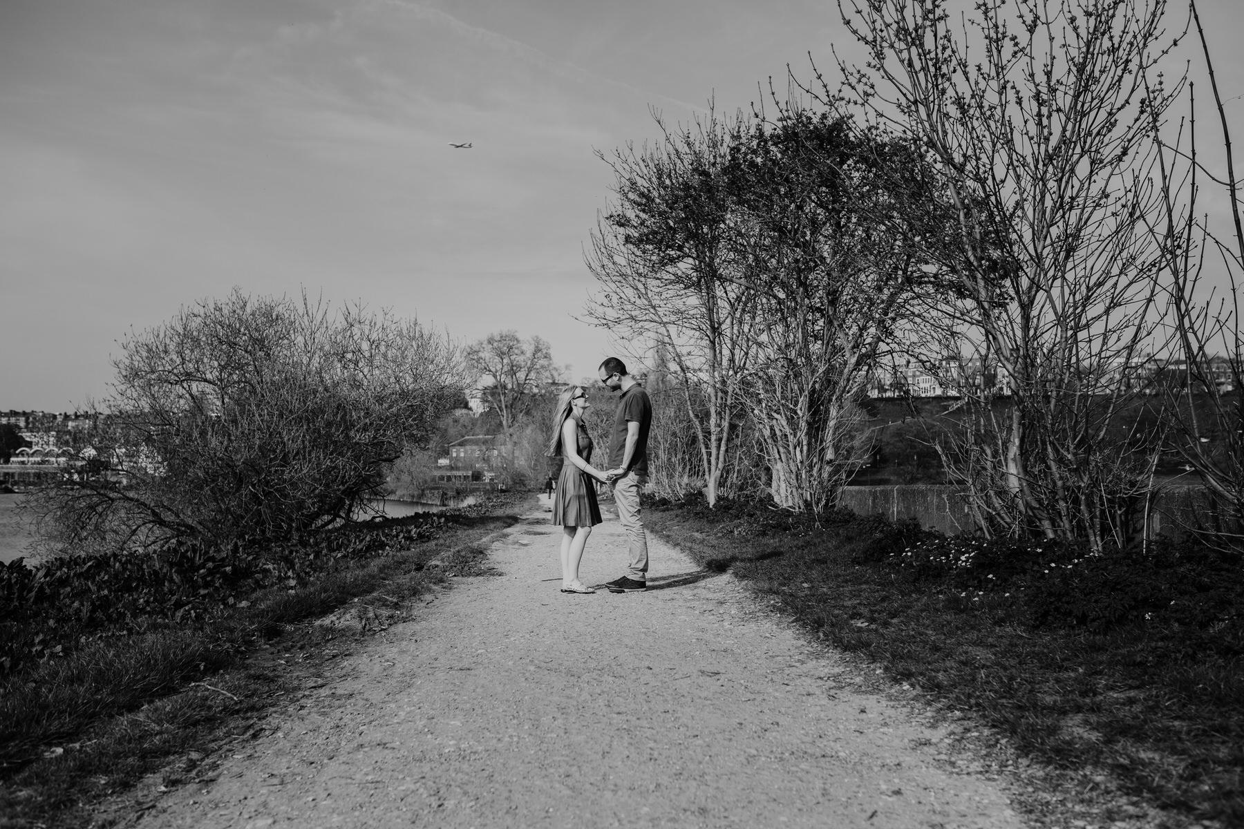 2-romantic unposed pre-wedding photography Richmond Thames path.jpg