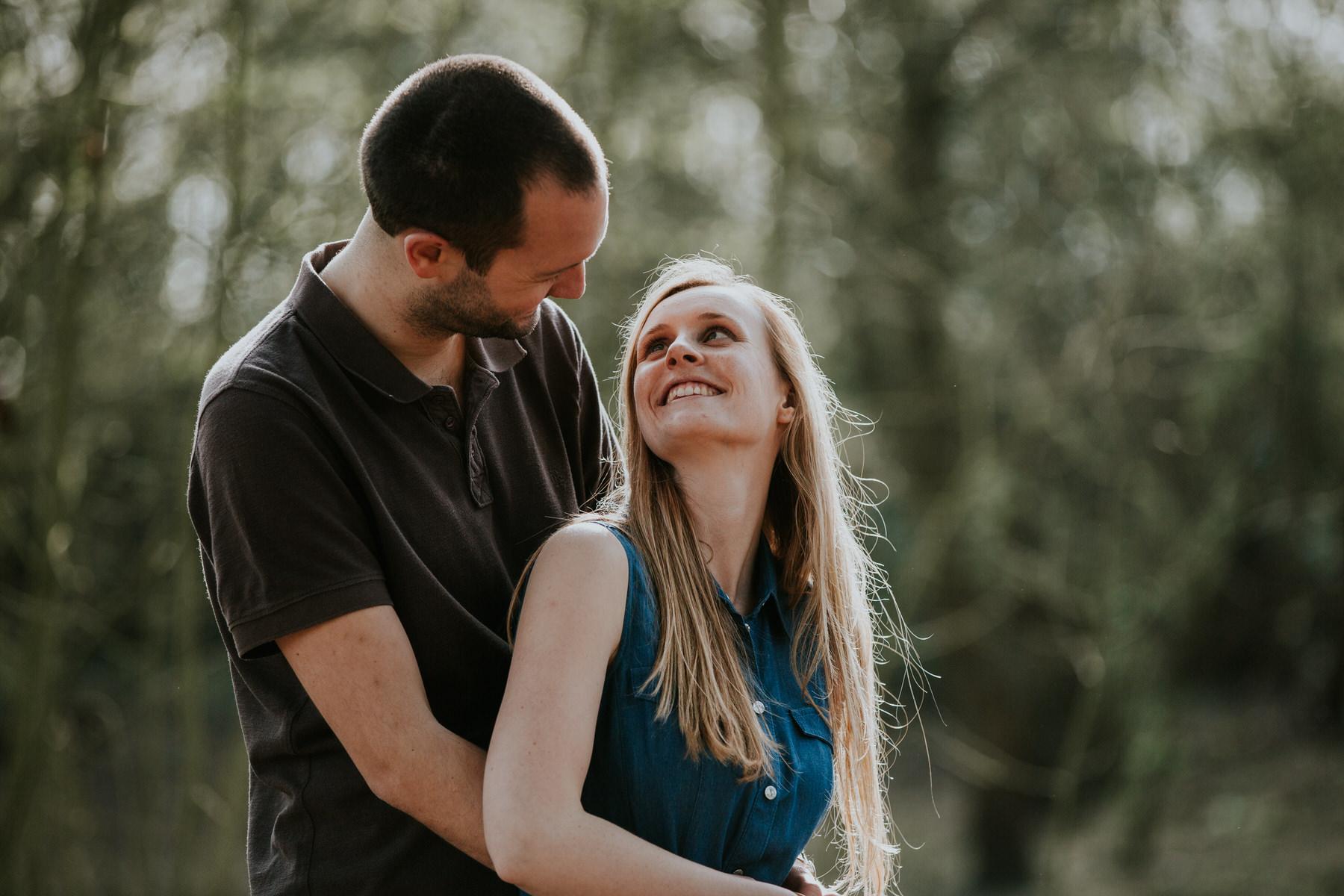7-romantic couple during forest engagement shoot Richmond.jpg