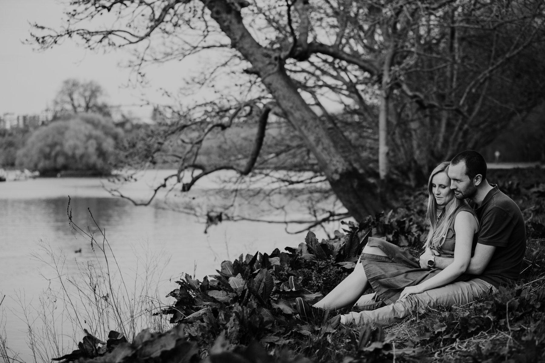 57-romantic Turner inspired BW pre-wedding photography Richmond.jpg