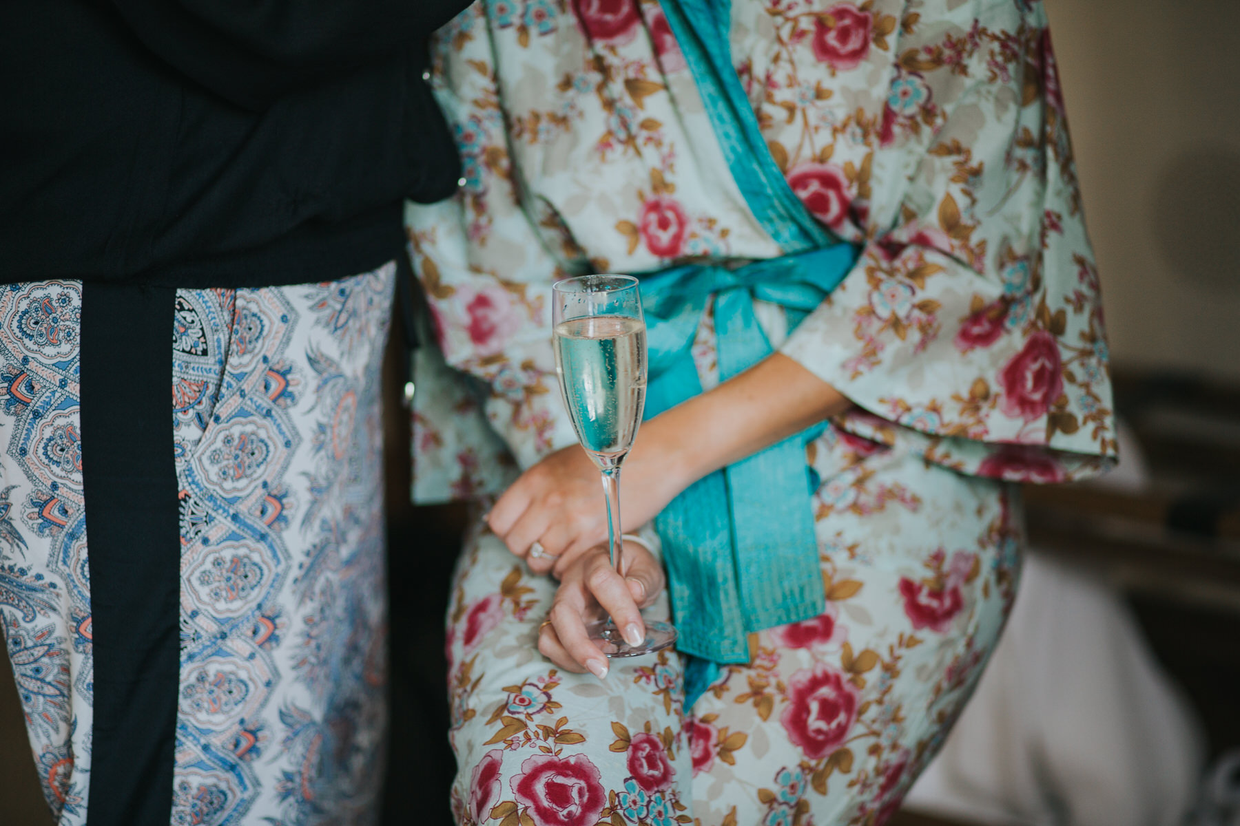 47 bride holding champagne glass kimono dressing gown  Yolande De Vries Photography.jpg