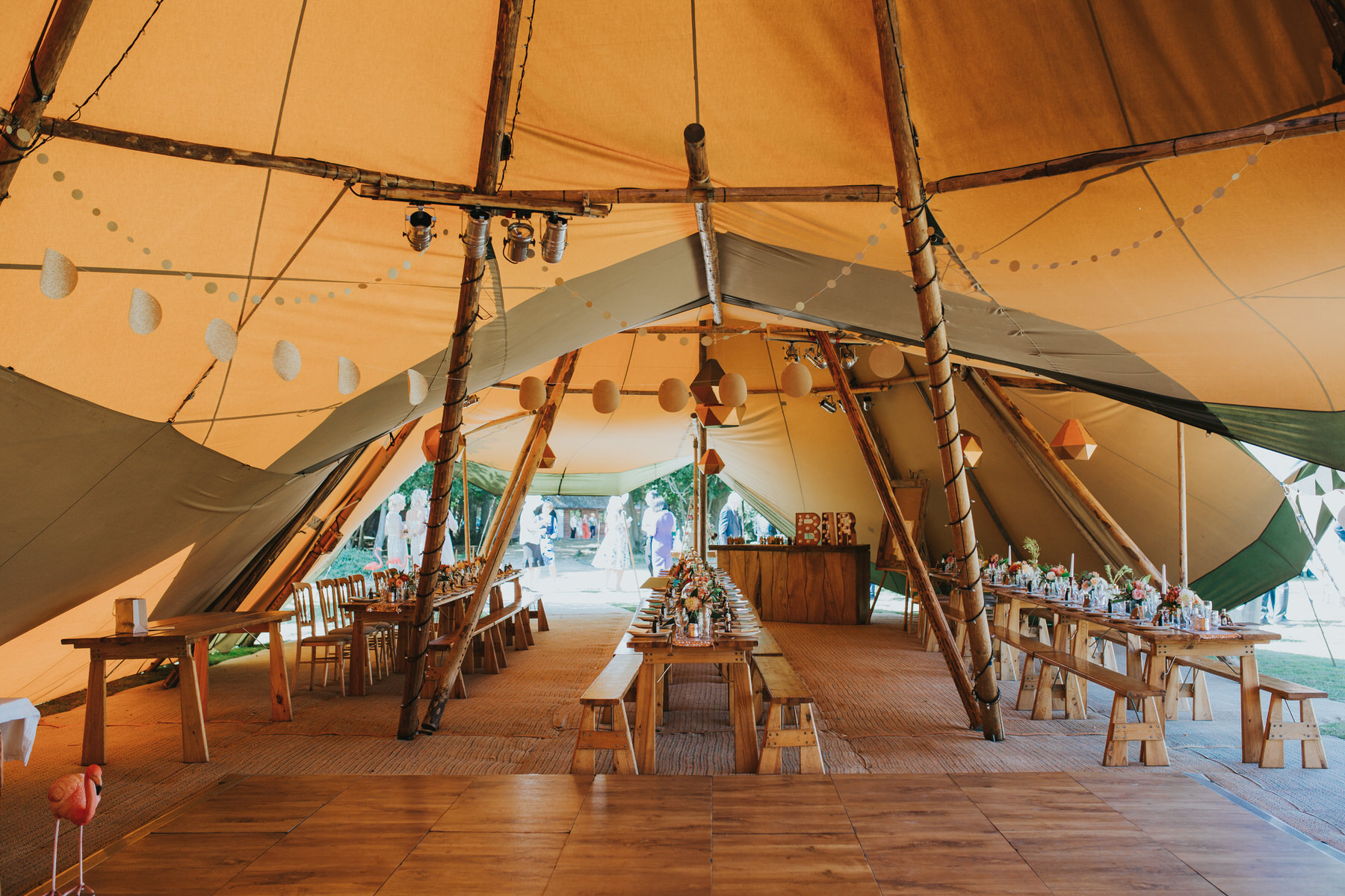 153 gold wedding tipi Knepp Castle reportage wedding photographer.jpg