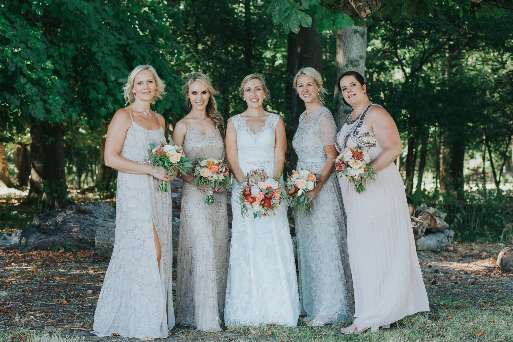 196 Knepp Castle bridesmaid in blush mismatched Needle and Threads dresses.jpg