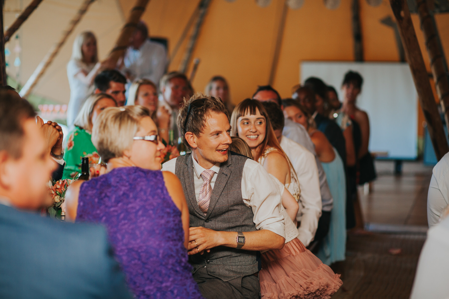 264 guest reactions speeches Knepp Castle documentary wedding photographer.jpg