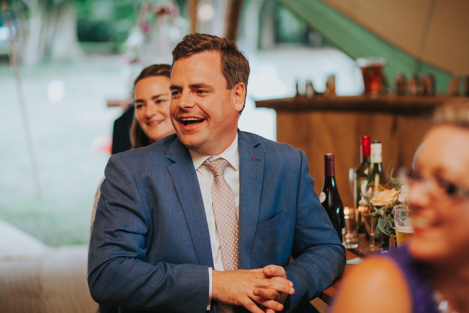 266 guest reactions speeches Knepp Castle documentary wedding photographer.jpg