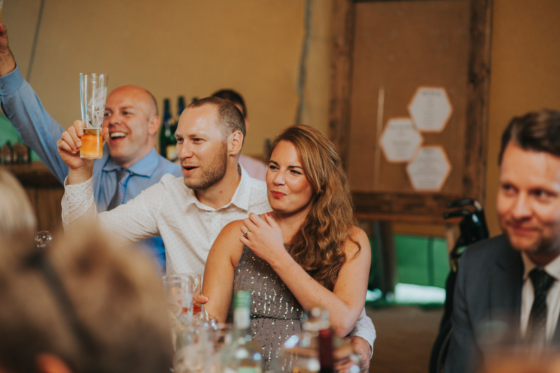 265 guest reactions speeches Knepp Castle documentary wedding photographer.jpg