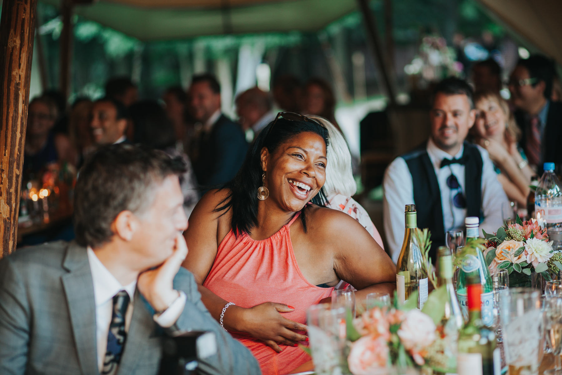 274 guest reactions speeches Knepp Castle documentary wedding photographer.jpg