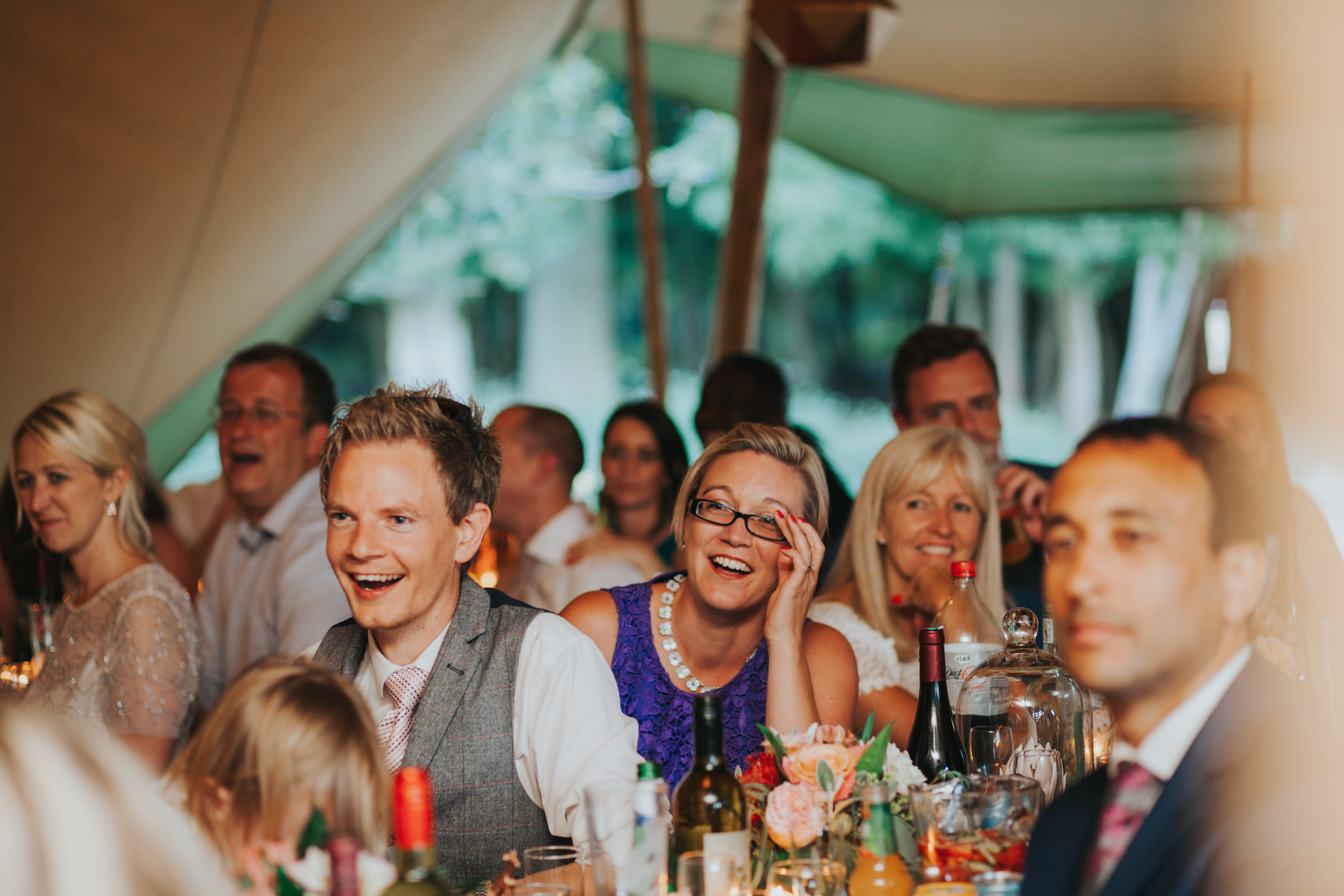 272 guest reactions speeches Knepp Castle documentary wedding photographer.jpg