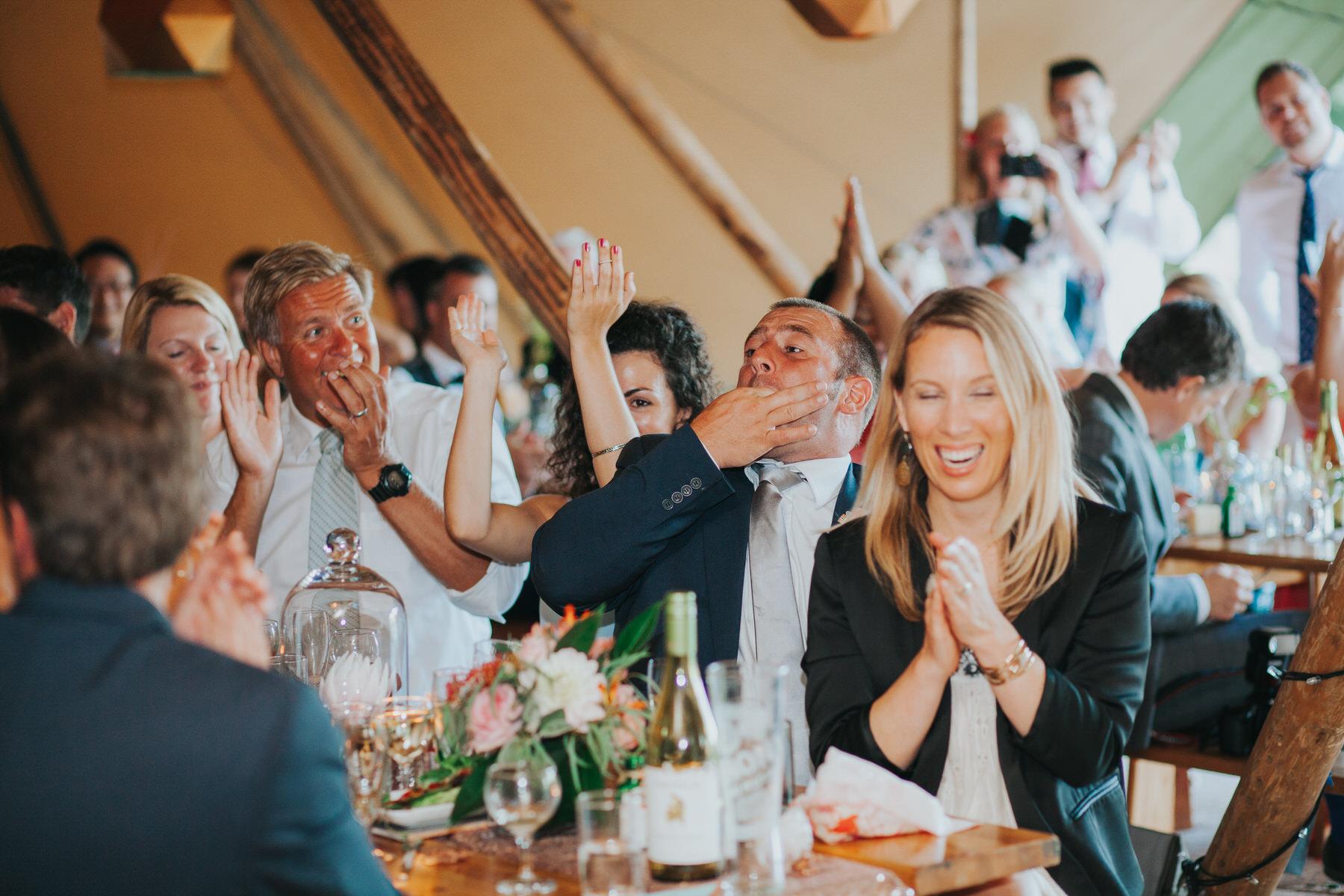 278 guest reactions speeches Knepp Castle documentary wedding photographer.jpg
