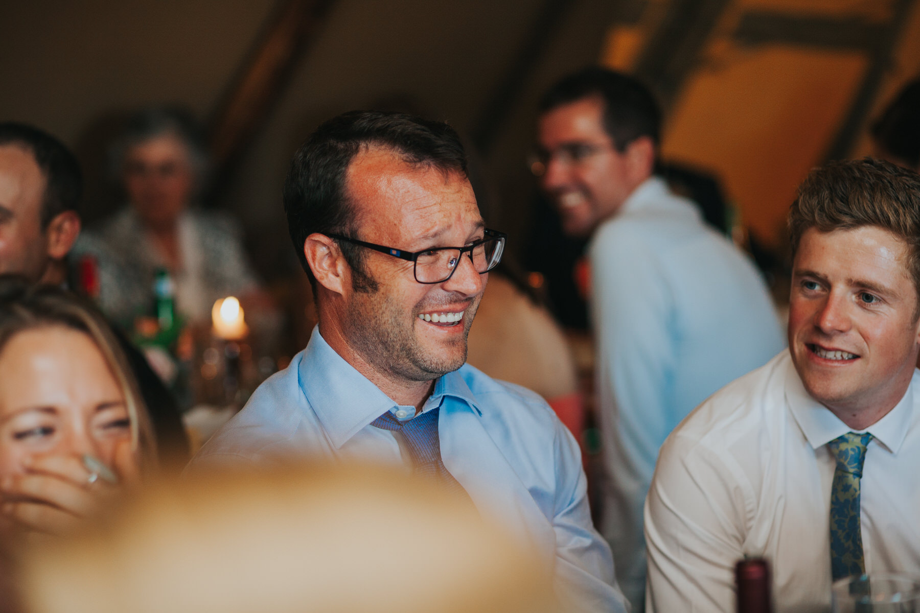 276 guest reactions speeches Knepp Castle documentary wedding photographer.jpg