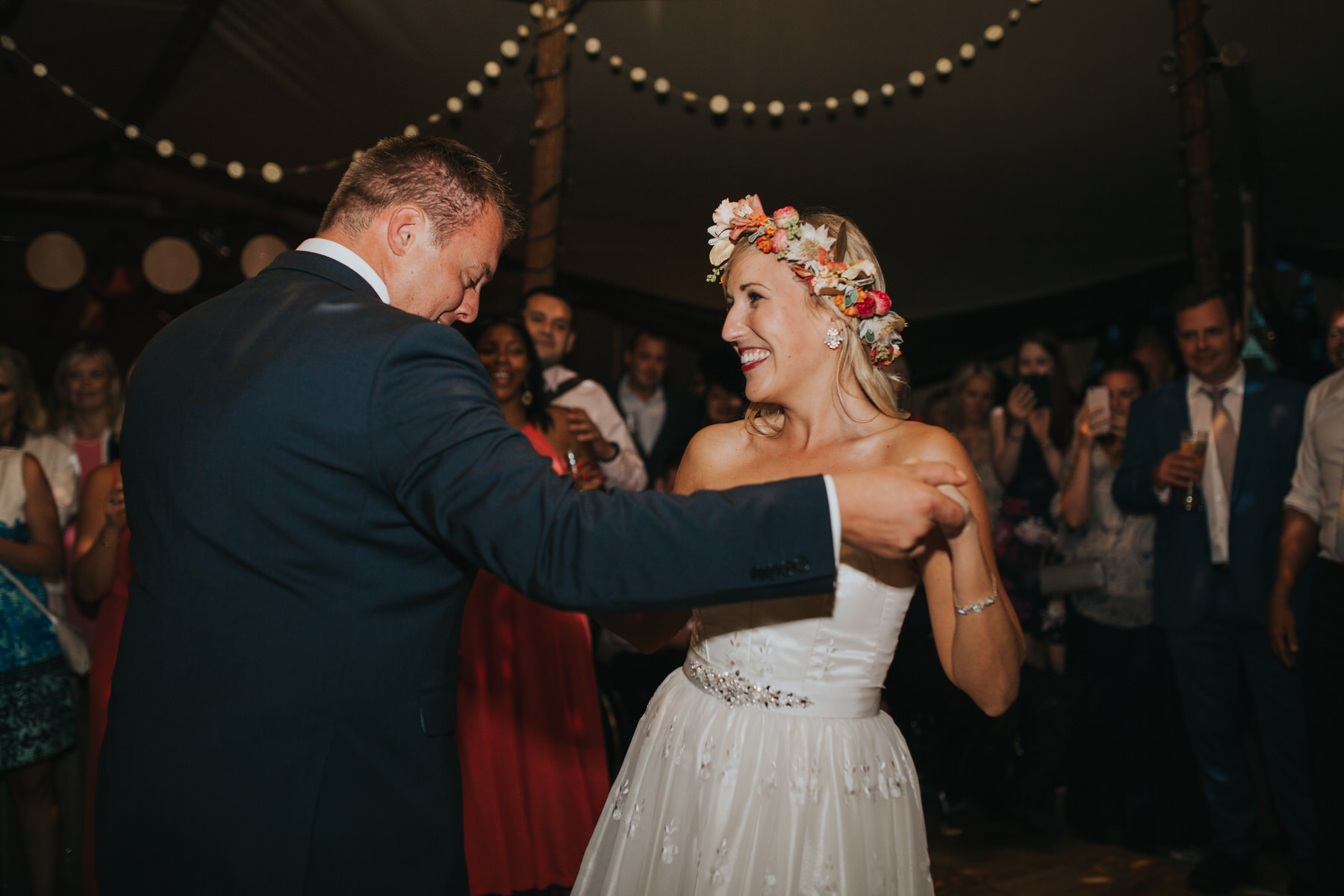 354 bride groom first dance tipi wedding London based documentary photographer.jpg
