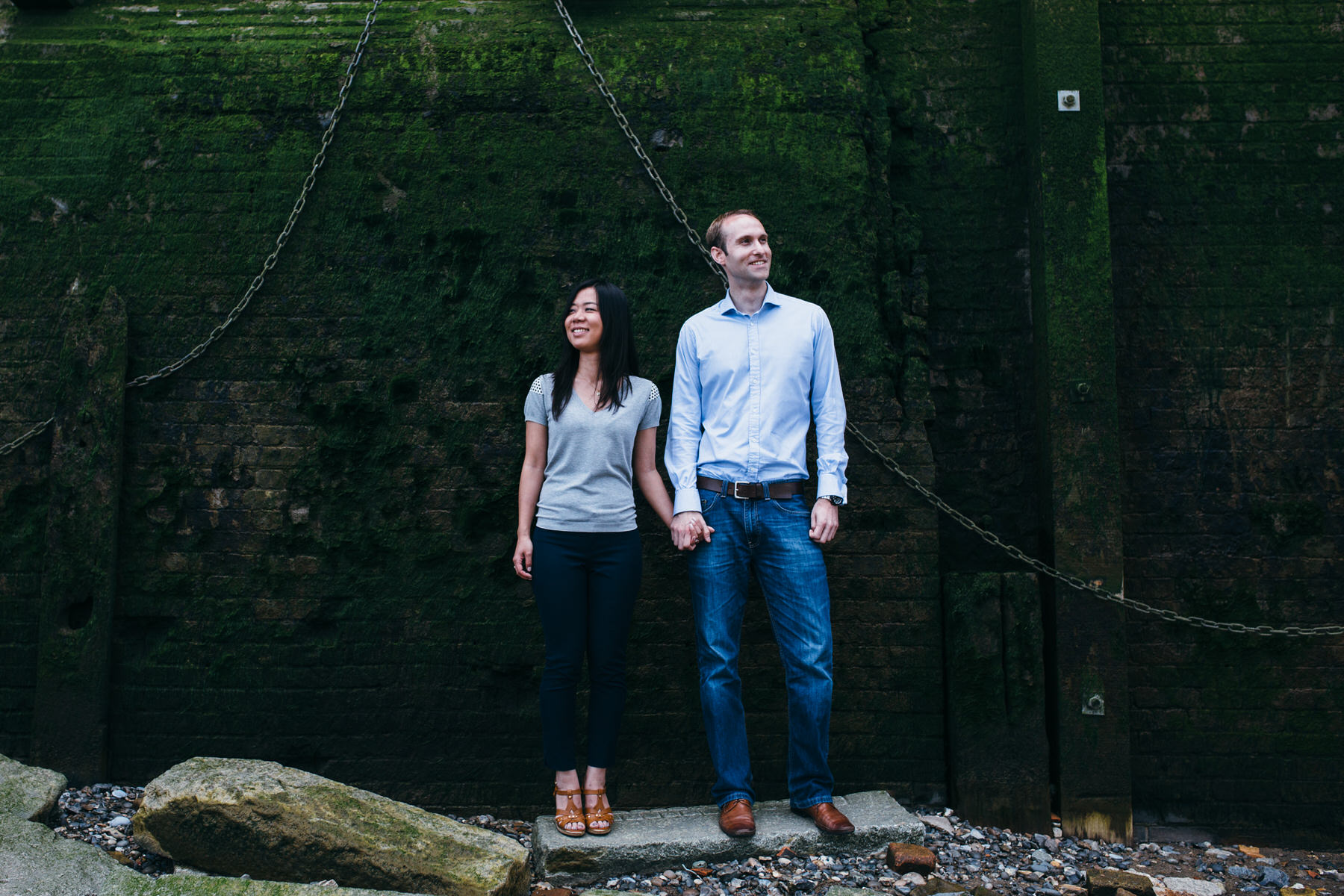 13 Thames prewedding engagement photo couple wearing blue.jpg