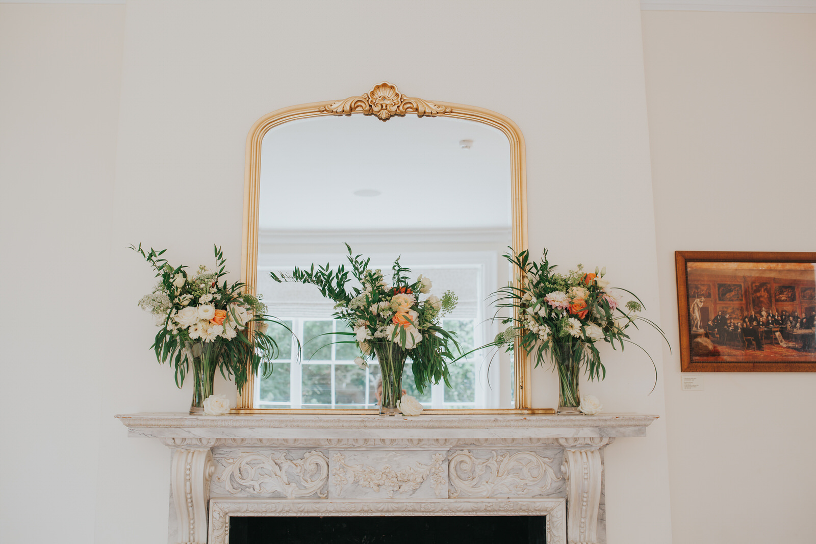 2-Pembroke Lodge ceremony room Russell Suite wedding flowers-1.jpg