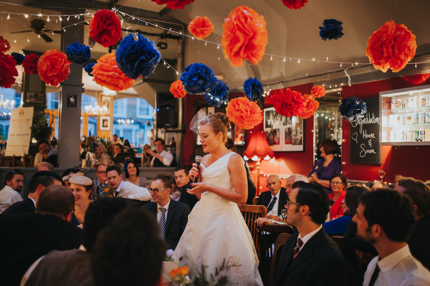 brides speech Londesborough-Pub-wedding photographer.jpg