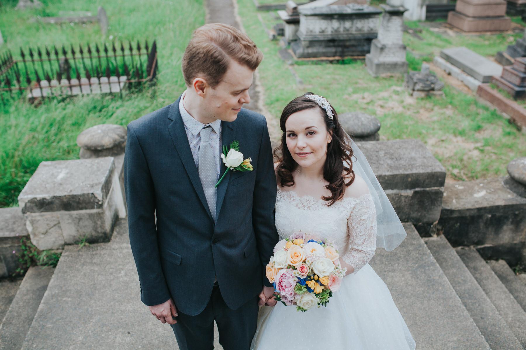 Brompton Cemetery bride groom wedding portraits.jpg