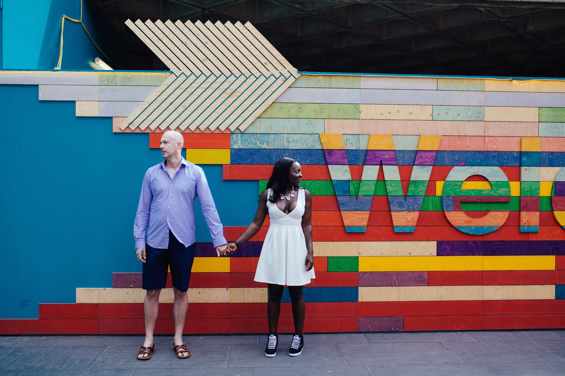 colourful London Southbank engagement portraits.jpg