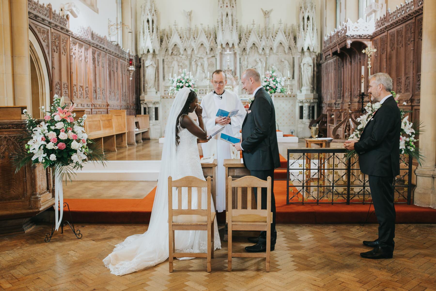 emotional bride during Dulwich wedding ceremony.jpg