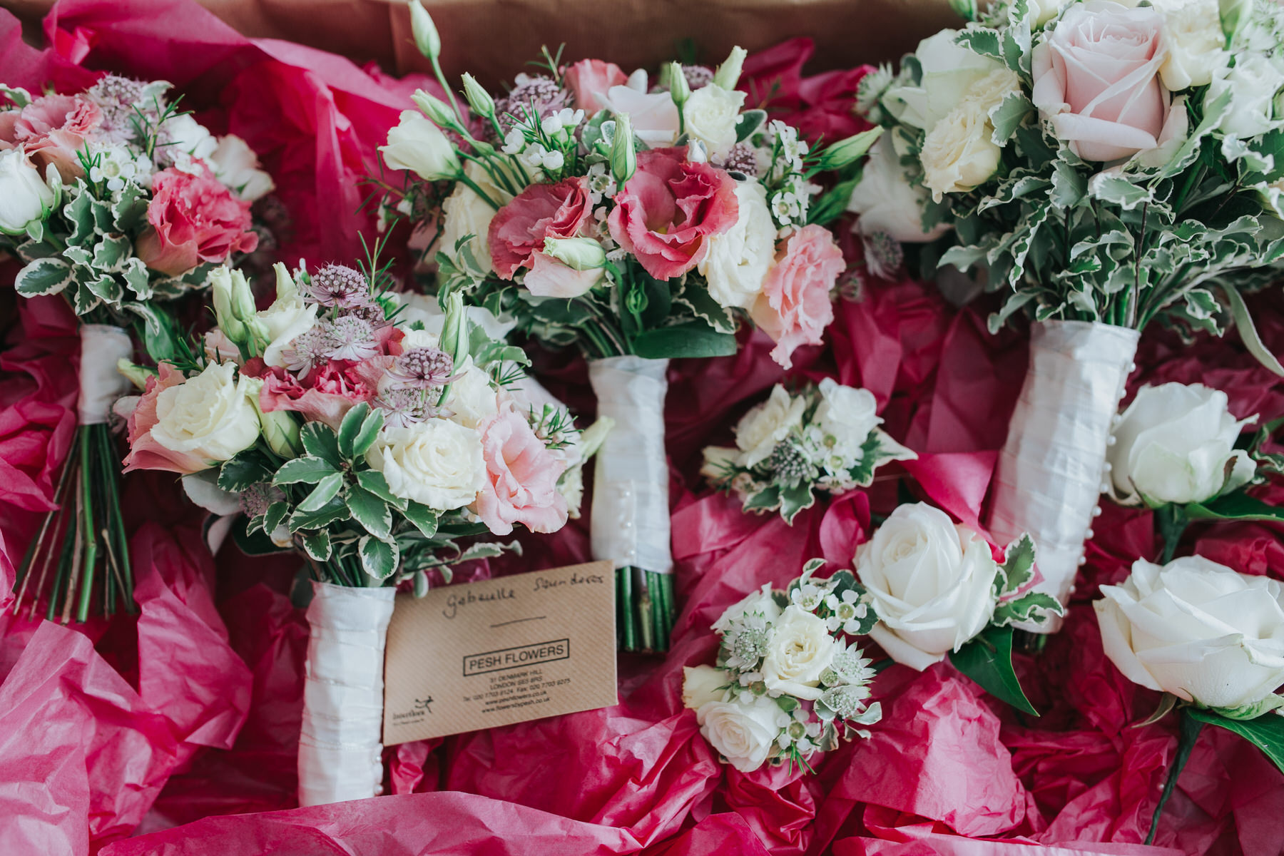 Pink blush bridesmaids bouquets Pesh Flowers.jpg