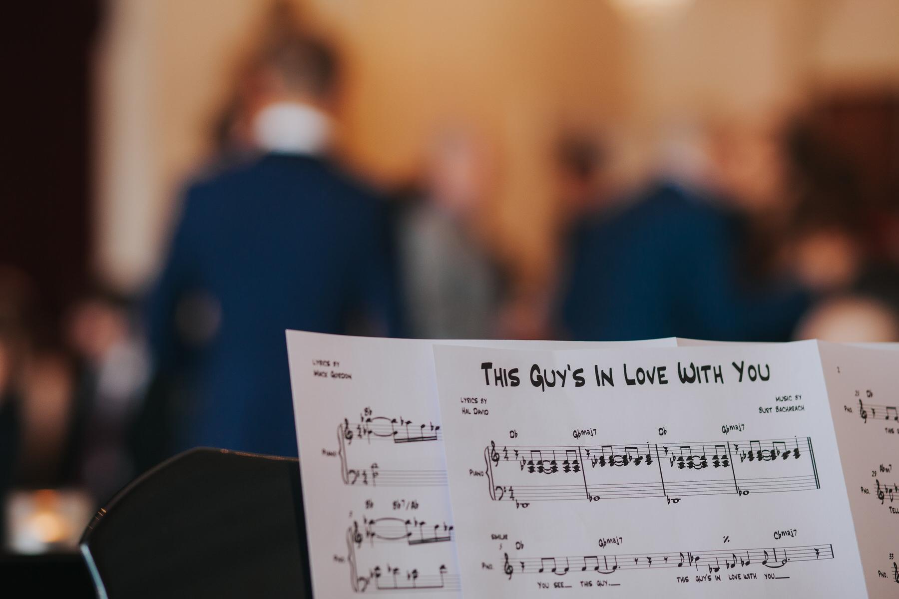 sheet music Trafalgar Tavern Greenwich Same-Sex Wedding.jpg