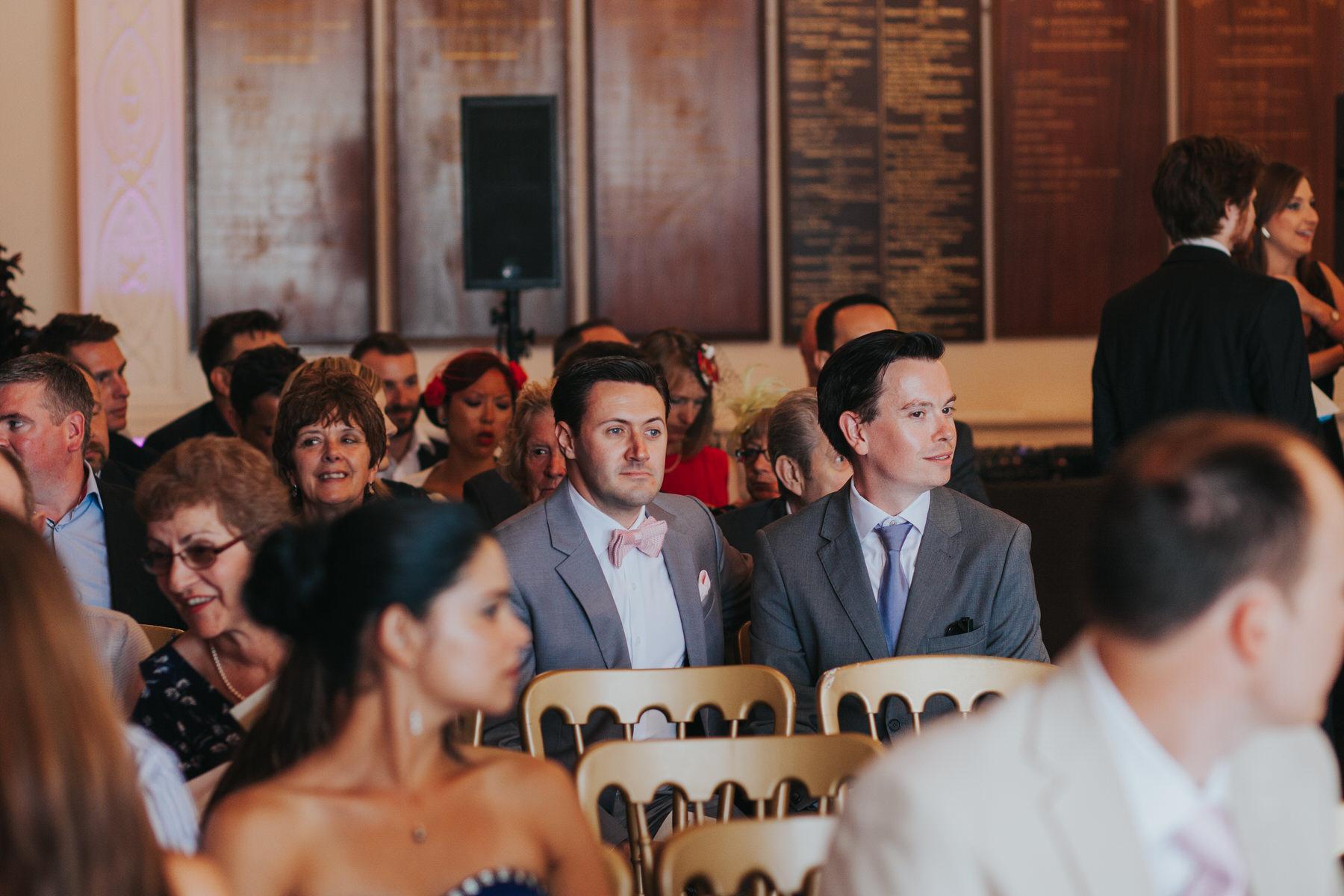 stylish guests Trafalgar tavern greenwich wedding photographer .jpg