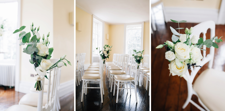 White roses wedding decor Clissold Wedding Hackney.jpg