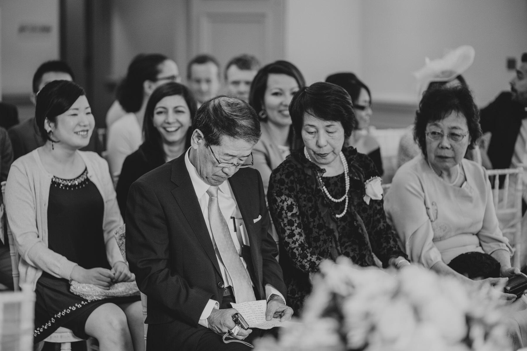 141 brides father reading memorising his speech Surrey reportage.jpg