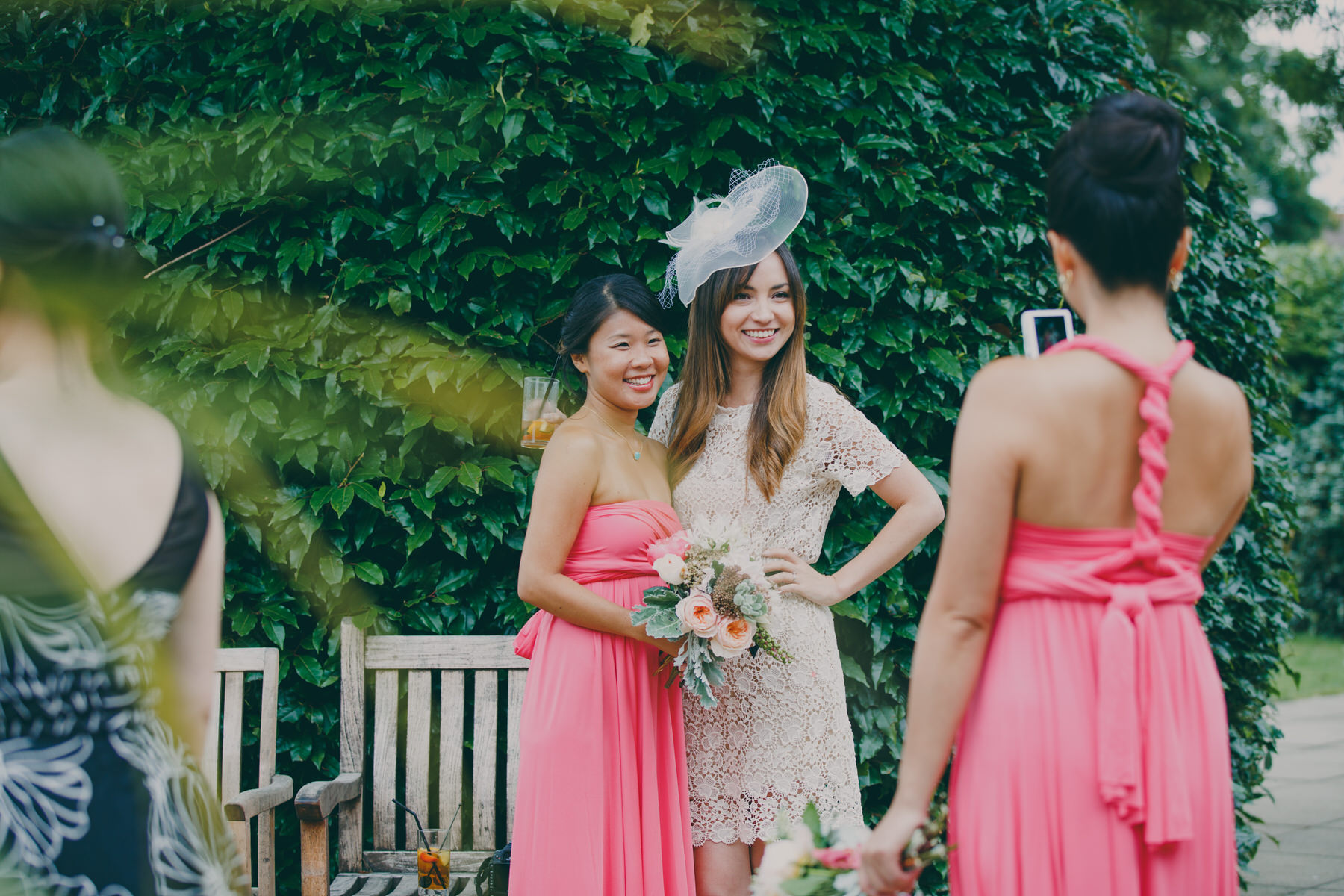 244 Surrey wedding reception drinks guest candid reportage.jpg