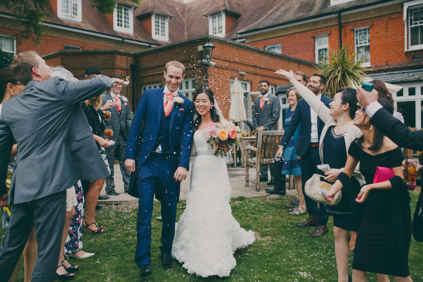228 rose petal wedding confetti Woodlands Hotel.jpg