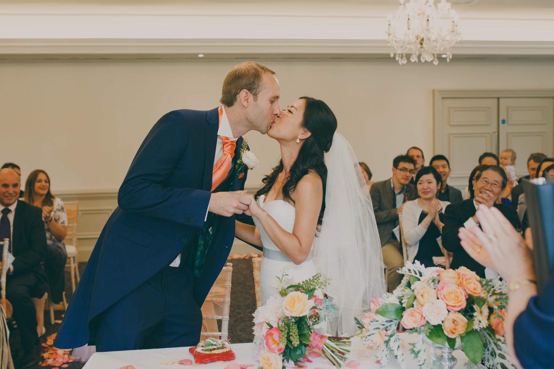 197 Surrey bride groom first kiss.jpg