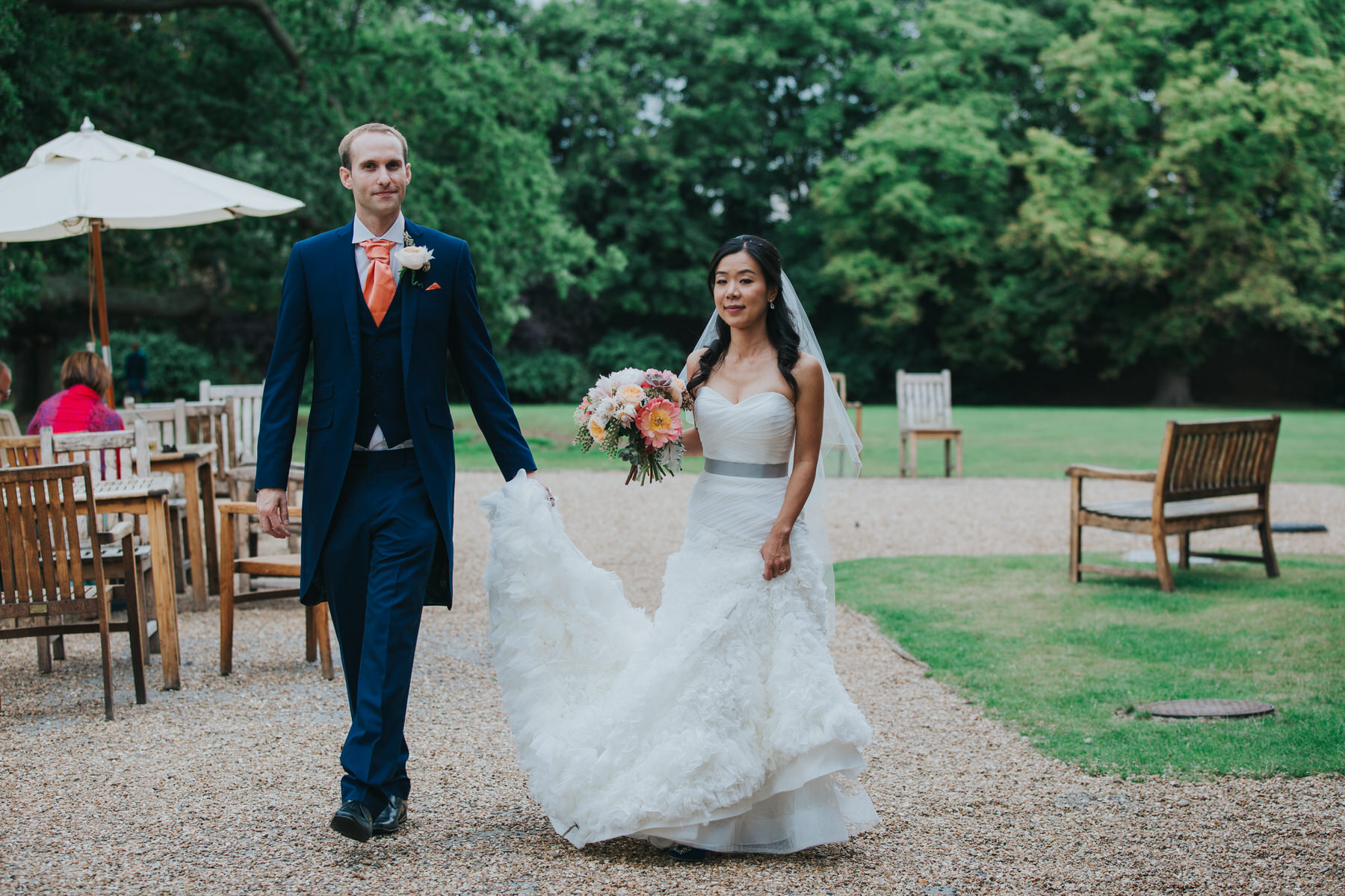 287 Mariko Chris head off to wedding portraits Woodlands Hotel Surrey.jpg