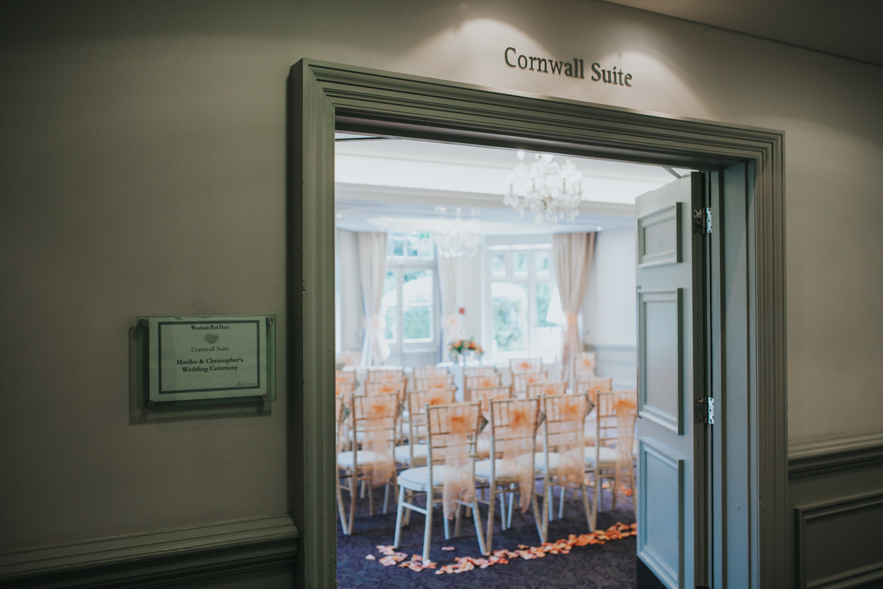 92 Woodlands Hotel wedding ceremony room Cornwall Suite.jpg