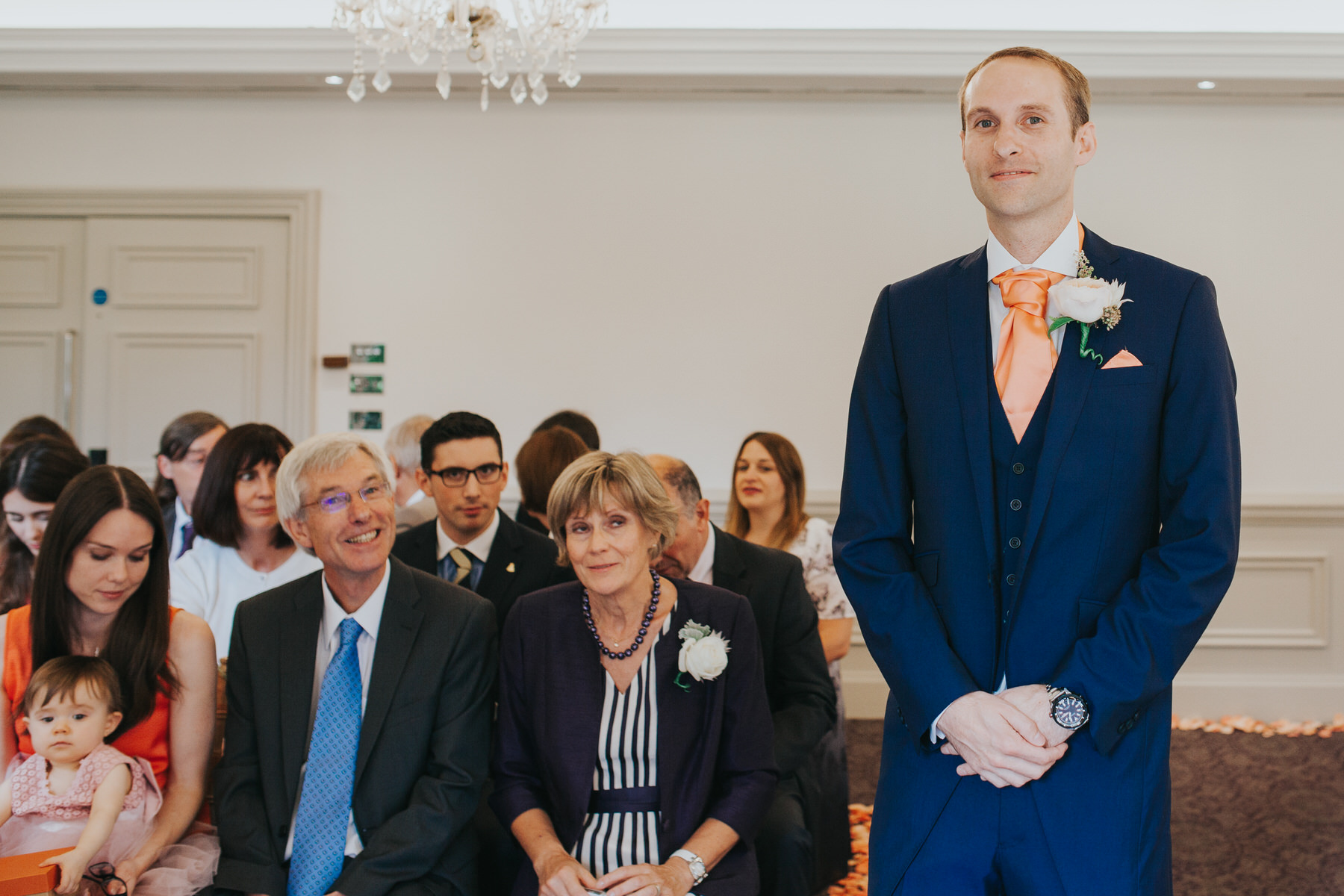 154 groom waiting for bride Woodlands Hotel marriage ceremony.jpg