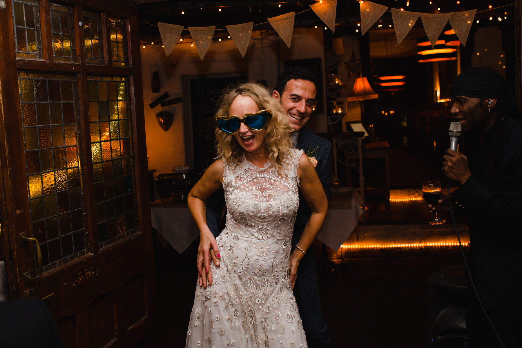 Clapham Metro Bar wedding bride grrom dancing.jpg