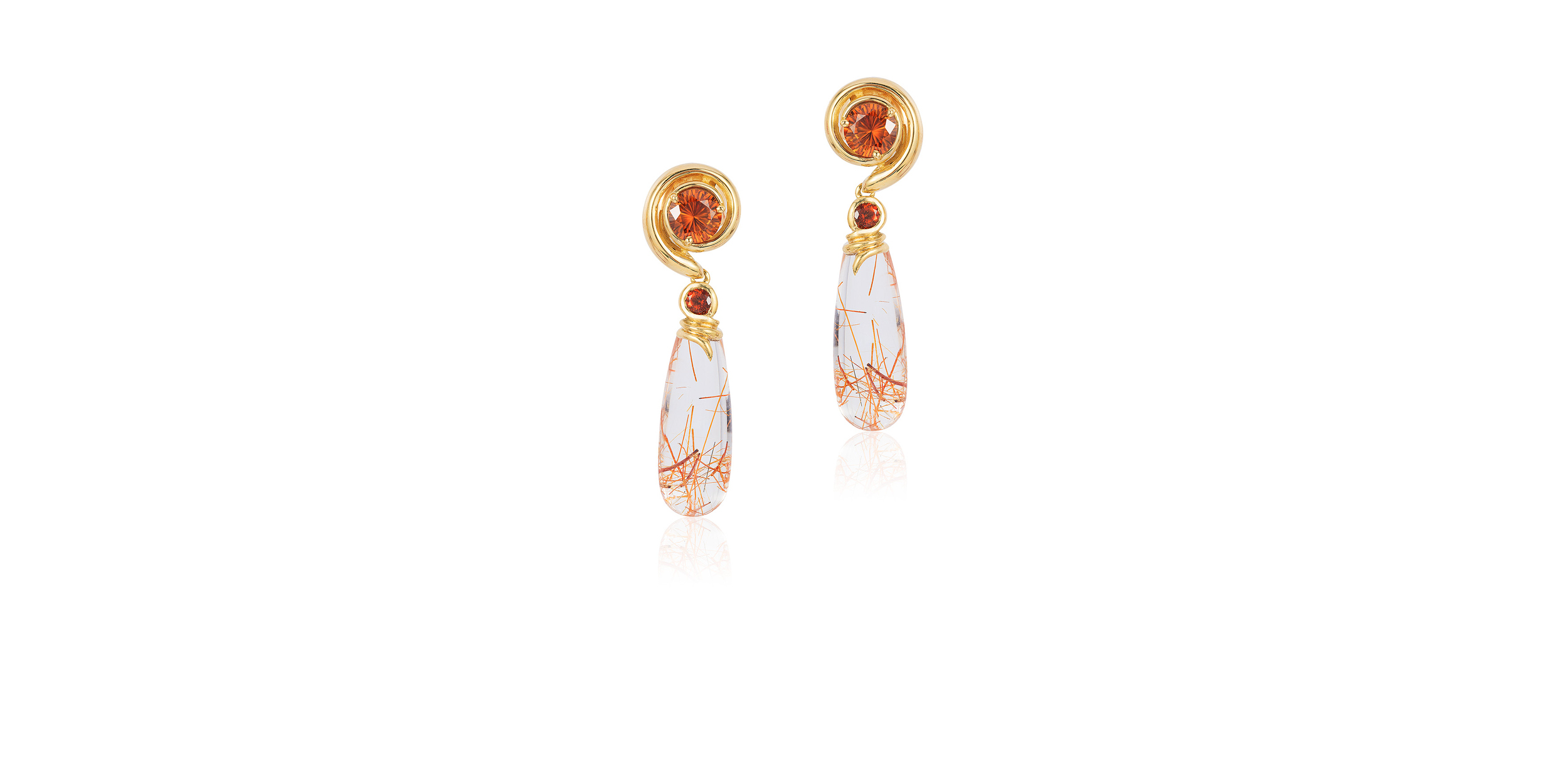 SPESSARITE GARNET EARRINGS